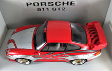 Load image into Gallery viewer, 1:18 Silver/Red Porsche 911 993 GT2 #95