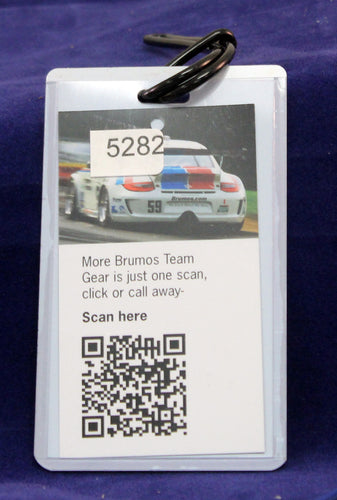 2011 Brumos Porsche luggage tag