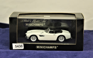1:43 White  BMW  1957 507 Roadster