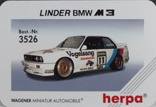 Load image into Gallery viewer, Herpa 1:87  White  BMW   E30  M3 Linder #12