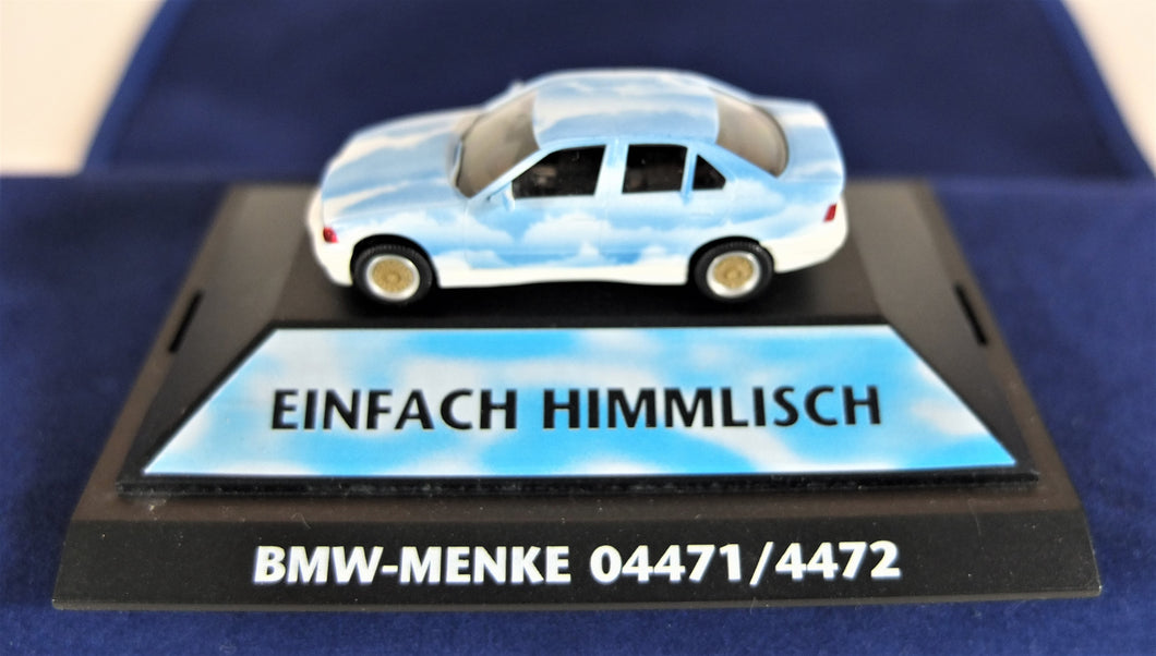 Herpa 1:87  White/Blue BMW  E36 3 Series Cloud Car