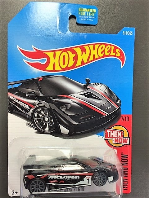 Hot Wheels McLaren F1 GTR Black and Red