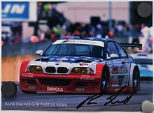Load image into Gallery viewer, Autographed Signature Card - BMW E46 M3 GTR Petit Le Mans - Boris Said, III - Track Record