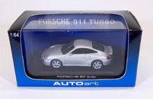 Load image into Gallery viewer, Autoart 1:64 Silver Porsche 911 Turbo