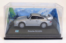 Load image into Gallery viewer, Carama 1:72 Silver Porsche 911 GT2