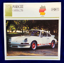 Load image into Gallery viewer, Porsche 1973 Carrera 2.7RS collector card