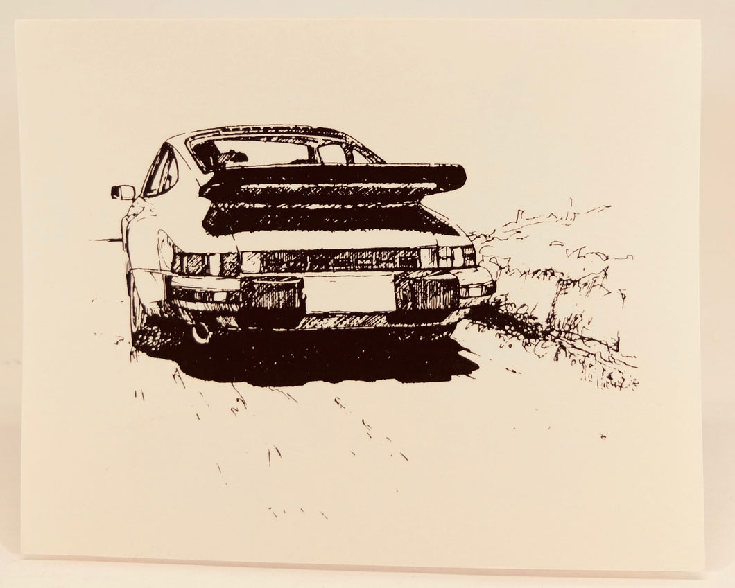 Porsche 911 notecards w/envelopes