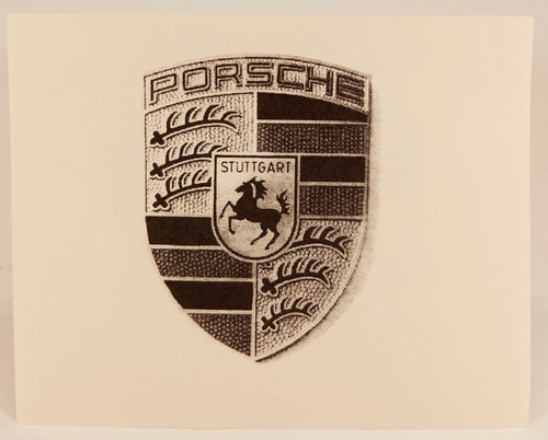 Porsche crest notecards w/envelopes