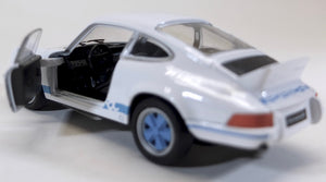 Welly 1:36  Wht/Blue Porsche 1973 911 Carrera RS