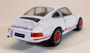Welly 1:36  Wht/Red Porsche 1973 911 Carrera RS