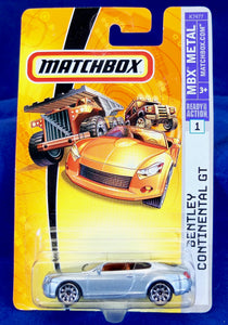 Matchbox 1:64 Silver Bentley Continental GT