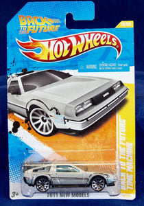 Hot Wheels 1:64 Silver Delorian Back to the Future Time Machine
