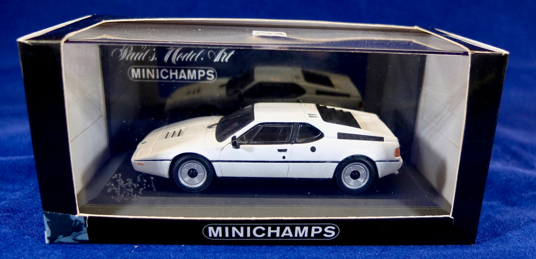 Minichamps 1:43 BMW White M1 Street, Paul's Model Art