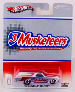 Hot Wheels 1:64 Silver Chevrolet 1970 Chevelle Delivery - 3 Musketeers