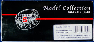 High Speed 1:43 Silver Mercedes-Benz 1954 300 SL