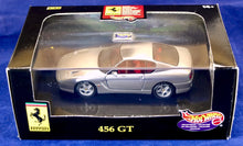 Load image into Gallery viewer, Hot Wheels 1:43 Silver Ferrari 456 GT