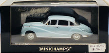 Load image into Gallery viewer, Minichamps 1:43 BMW 502 Saloon 1953 sky blue.