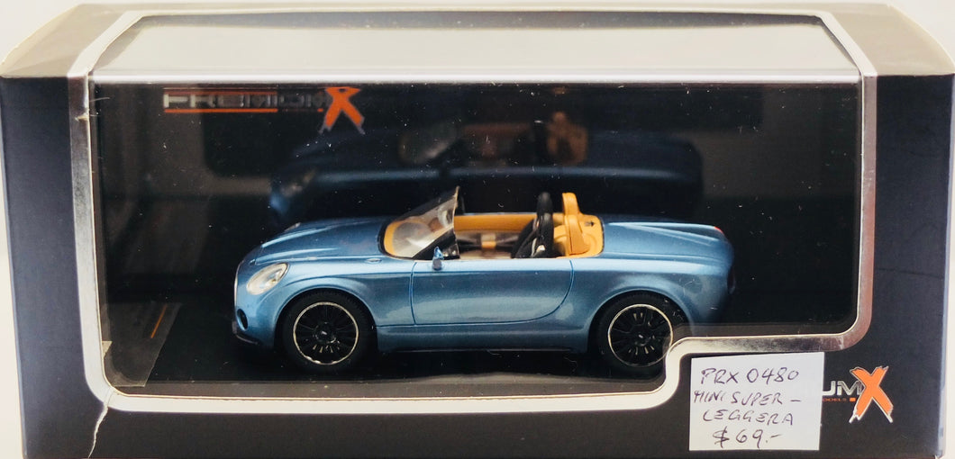PremiumX 1:43 MINI Superleggera Vision Concept 2014 Blue.