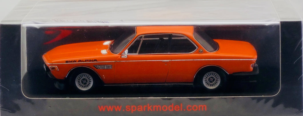 Spark 1:43 BMW Alpina CSL (E9) Orange in plastic wrap.