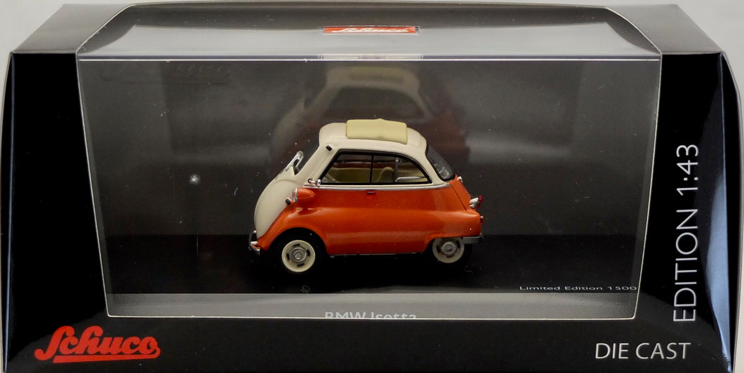 Schuco 1:43 BMW Isetta Orange/White, limited to 1500.
