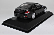 Load image into Gallery viewer, Minichamps 1:43 BMW 2006 Black 6er Coupe, 1 of 1,824 pcs