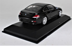 Minichamps 1:43 BMW 2006 Black 6er Coupe, 1 of 1,824 pcs