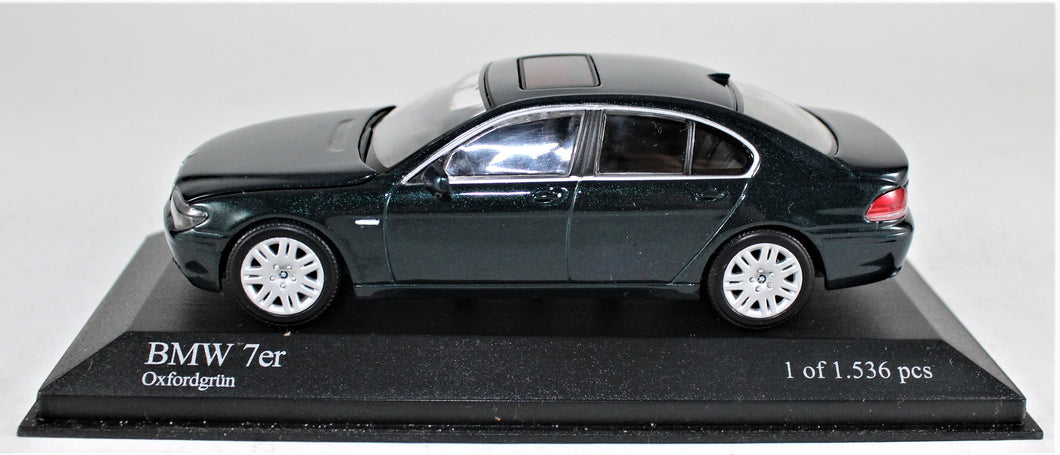 Minichamps 1:43 BMW 7 Series. 2001, Green, 1 of 1,536.