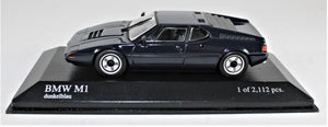 Minichamps 1:43 BMW M1 Street. 1978, Blue, 1 of 2,112.