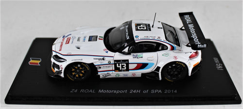 Spark 1:43 BMW Z4 ROAL Motorsport 24H of Spa 2014