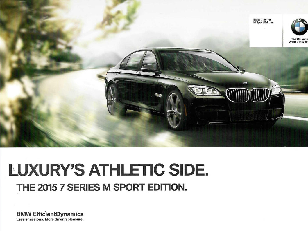Brochure - BMW 7 Series M Sport Edition Luxury's Athletic Side.