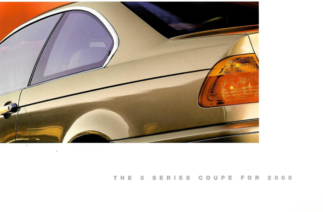 Brochure - BMW 2000 3 Series Coupe for 2000