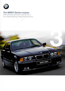 Brochure - BMW 3 Series Coupe: Racetrack-proven dynamics for electrifying responsivness. 1998 1st version