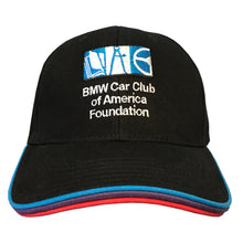 Load image into Gallery viewer, BMW CCA Foundation M Hat w/ Motorsport Colors Brim