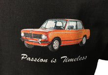 "Load image into Gallery viewer, BMW 2002 Orange ""Passion is timeless"" T-Shirt"