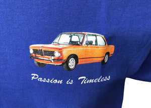 "BMW 2002 Orange ""Passion is timeless"" T-Shirt"