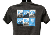 Load image into Gallery viewer, 50 Years of BMW by Decade - T-shirt from Passion Exhibit