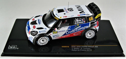 IXO 1:43 MINI John Cooper Works, #68 Rallye du France 2012