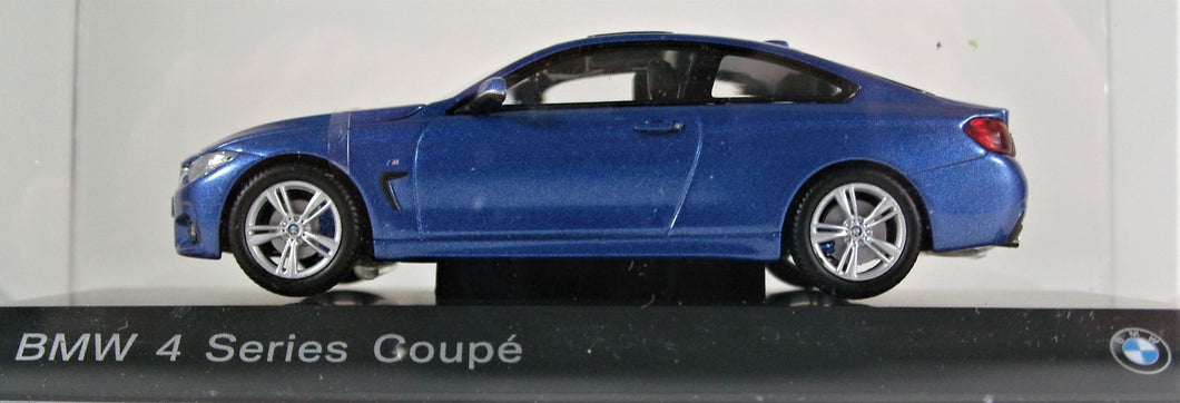 BMW 1:43 F32 4 Series Coupe - Estoril Blue.
