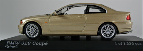 Minichamps 1:43 1999 BMW E46 328 Coupe - Gold Metallic. 1 of 1,536