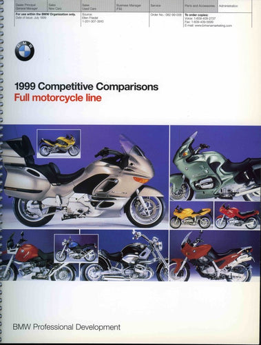 Brochure - 1999 Competitive Comparisons Full Motorcycle Line