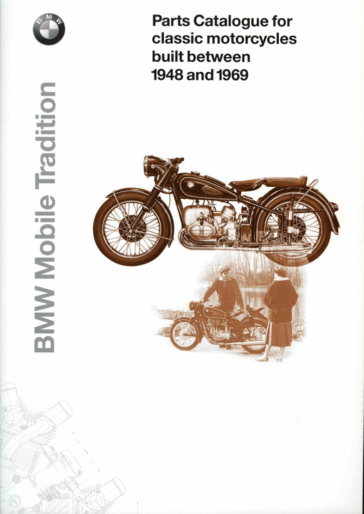 Brochure - BMW Parts Catalogue for classic motorcycles built between 1948 and 1969 - 2000 Brochure