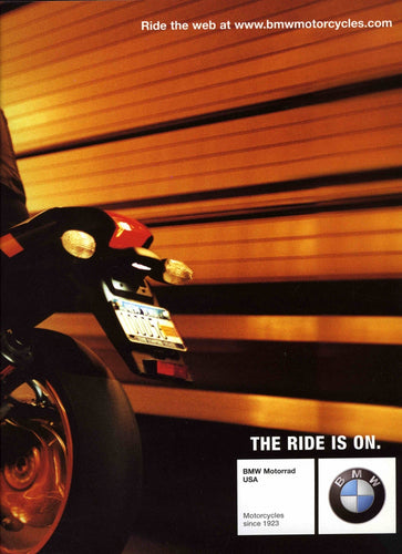 Brochure - Make every tunnel a wind tunnel. - 2004/2005 Full Model Line BMW Motorcycle Brochure