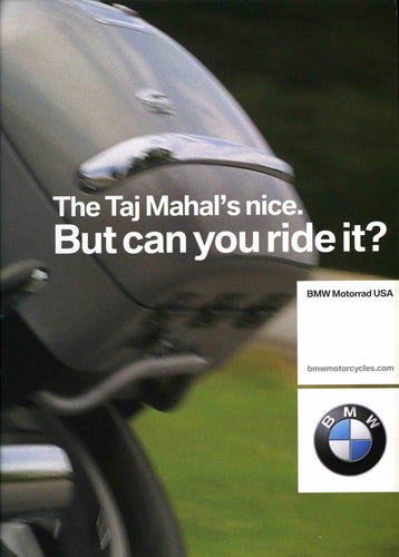 Brochure - The Taj Mahal's nice. But can you ride it? - 2003 Full Model Line BMW Motorcycle Brochure