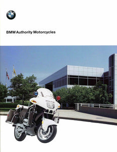 Brochure - BMW Authority Motorcycles - 2000 R 1100 RT-P / R1100RT-P Police Brochure