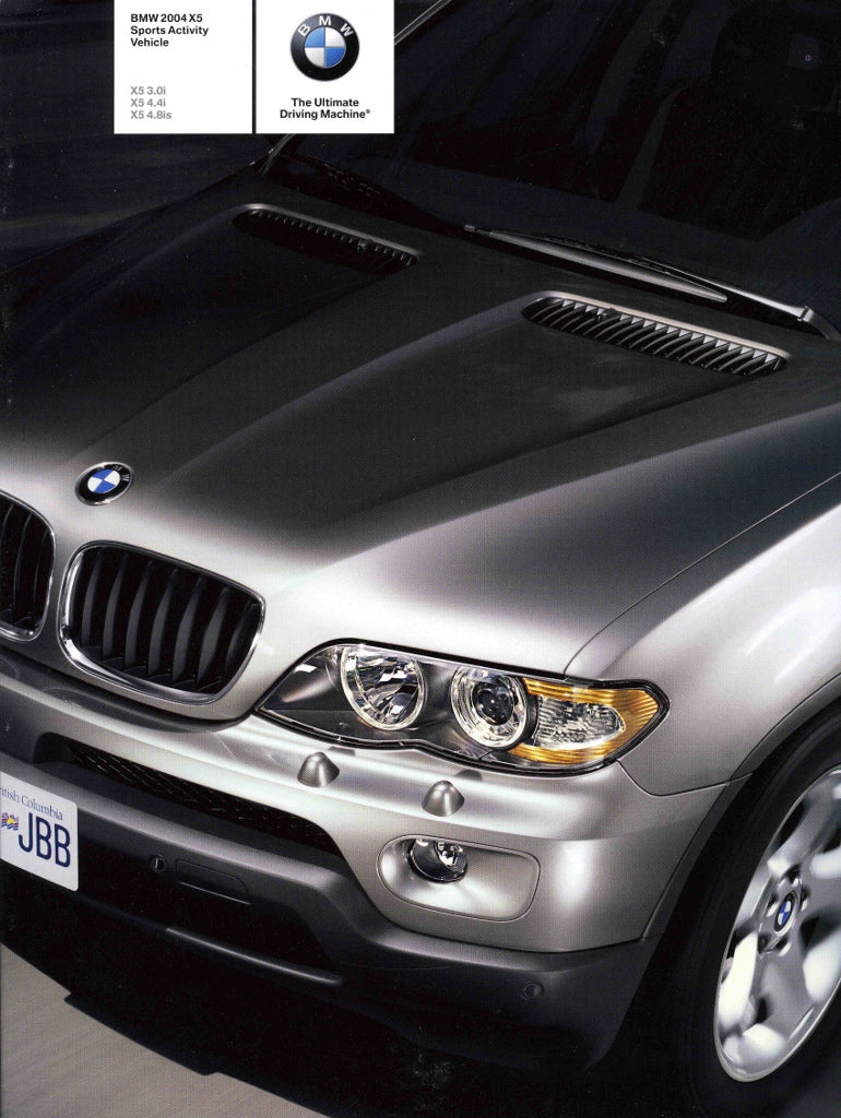 Brochure - BMW 2004 X5 Sports Activity Vehicle X5 3.0i X5 4.4i - E53 Brochure (2nd version) - S 8.4