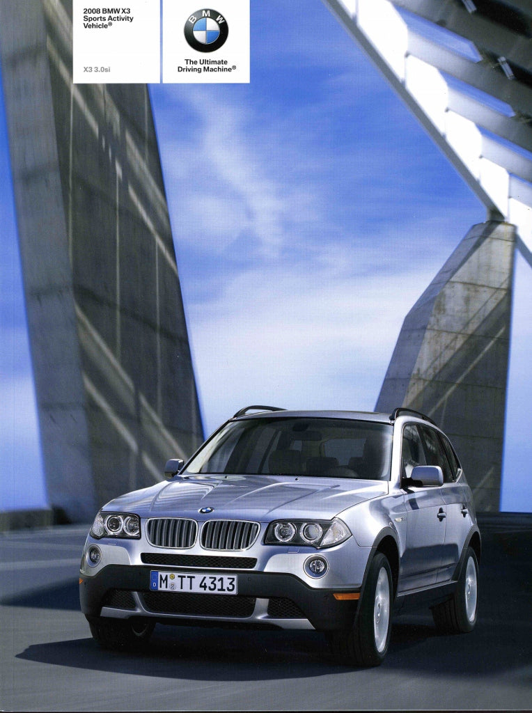 Brochure - 2008 BMW X3 Sports Activity Vehicle 3.0si - E83 (1st version)