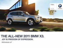 Load image into Gallery viewer, Brochure - The all-new 2011 BMW X3 X3 xDrive28i X3 xDrive35i - F25 Brochure (1st version)