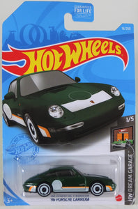 Hot Wheels 1:64 Green '96 Porsche Carrera