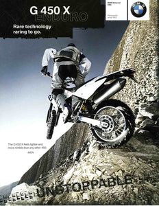 Brochure - BMW Motorrad USA Motorcycles since 1923 - 2009 G 450 X Brochure