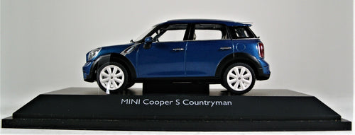 Schuco 1:43 Mini Cooper S Countryman, True Blue.